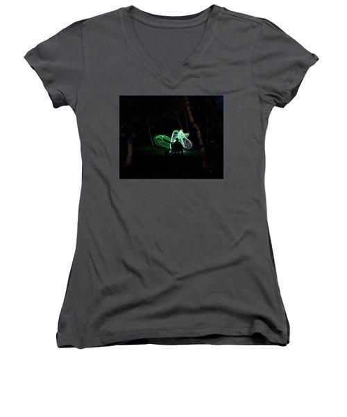 Woodland Fairies Women's V-Neck T-Shirt (Junior Cut) by Ellery Russell