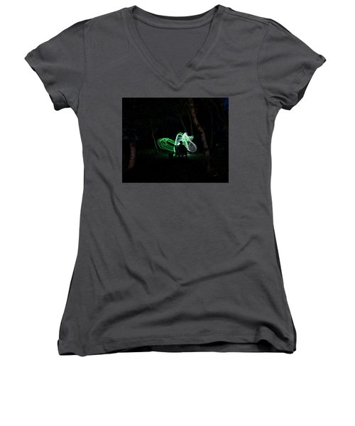 Woodland Fairies Women's V-Neck (Athletic Fit)