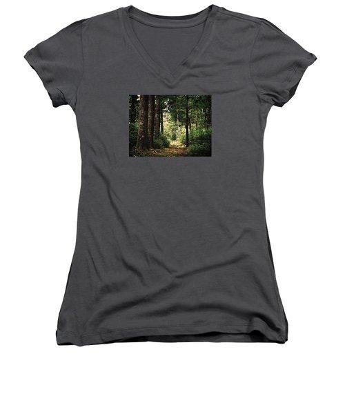 Woodland Hush Women's V-Neck T-Shirt
