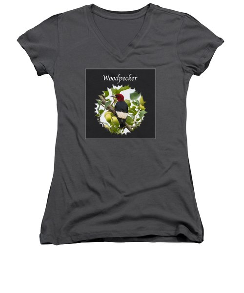 Woodpecker Women's V-Neck T-Shirt