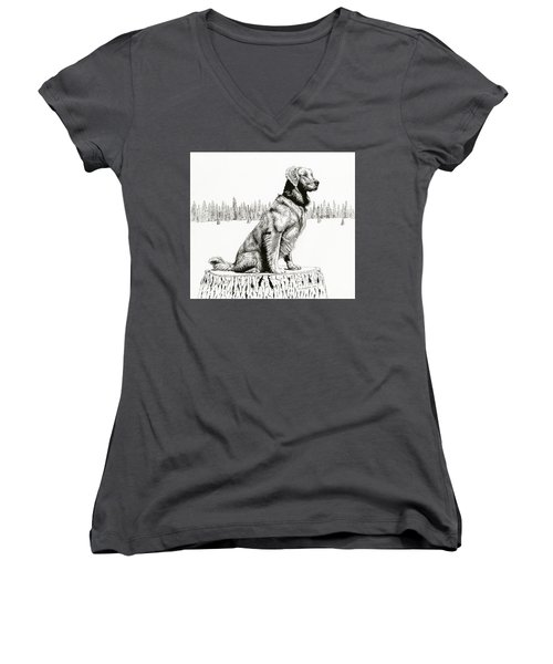 Woods Dog Women's V-Neck (Athletic Fit)