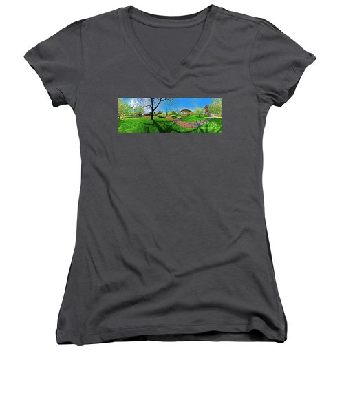 Woodstock Square Historic District 360 Spring Women's V-Neck (Athletic Fit)
