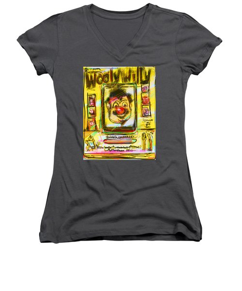 Wooly Willy Women's V-Neck T-Shirt