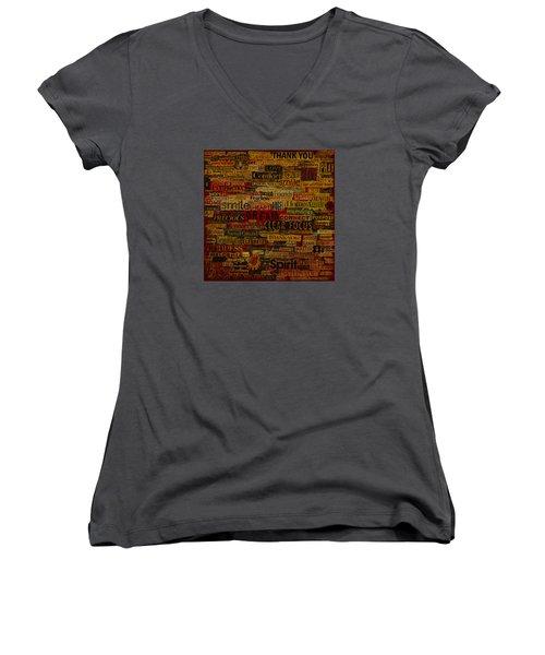 Words Matter Women's V-Neck T-Shirt