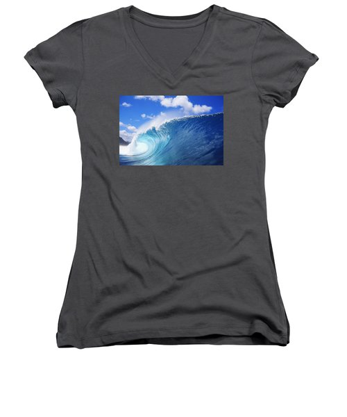 World Famous Pipeline Women's V-Neck (Athletic Fit)