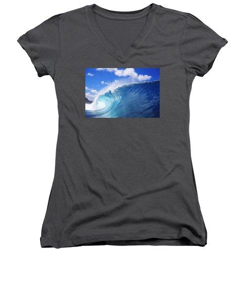 World Famous Pipeline Women's V-Neck T-Shirt