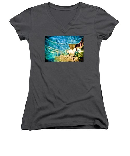 World In My Eyes Women's V-Neck