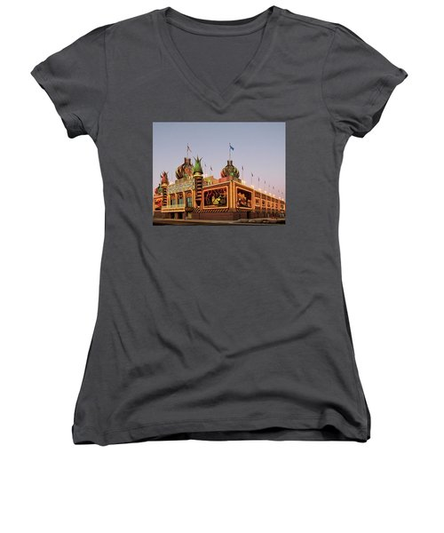 World's Only Corn Palace 2017-18 Women's V-Neck (Athletic Fit)