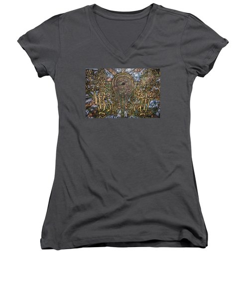 Worlds Visible And Invisible Women's V-Neck (Athletic Fit)