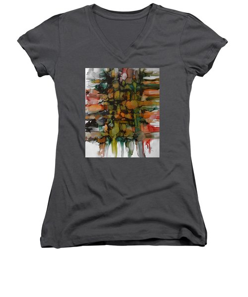 Woven Women's V-Neck T-Shirt (Junior Cut) by Alika Kumar