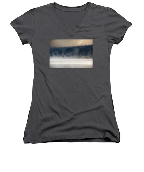 Wow Women's V-Neck T-Shirt (Junior Cut) by Brian N Duram