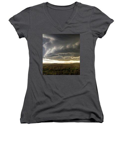 Wray Colorado Tornado 021 Women's V-Neck