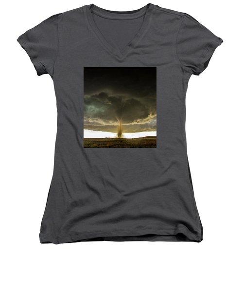 Wray Colorado Tornado 060 Women's V-Neck T-Shirt