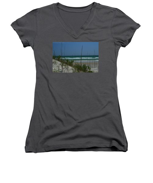Wrightsville Beach North Dunes Women's V-Neck T-Shirt