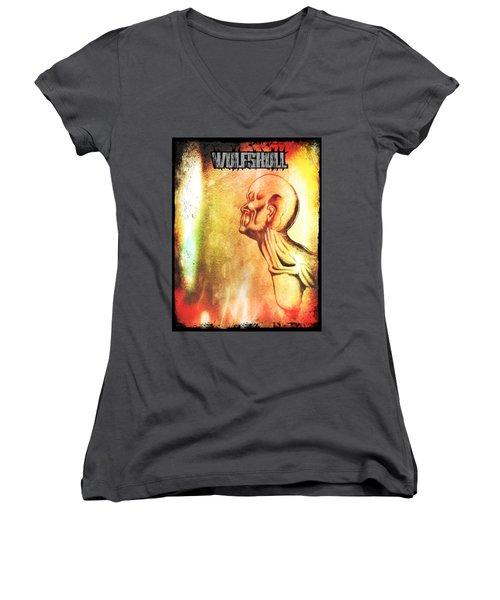 Wulfskull #2 Women's V-Neck T-Shirt