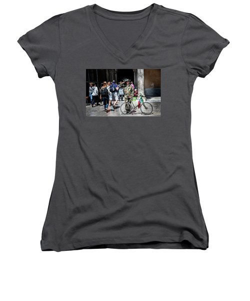 Ww II Soldier Women's V-Neck (Athletic Fit)