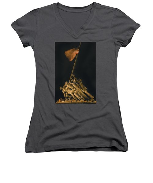Iwo Jima Remembrance Women's V-Neck