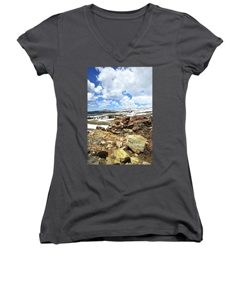 Wyoming's Big Horn Pass Women's V-Neck (Athletic Fit)