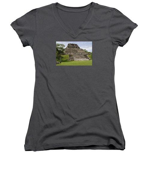 Xunantunich   Women's V-Neck T-Shirt