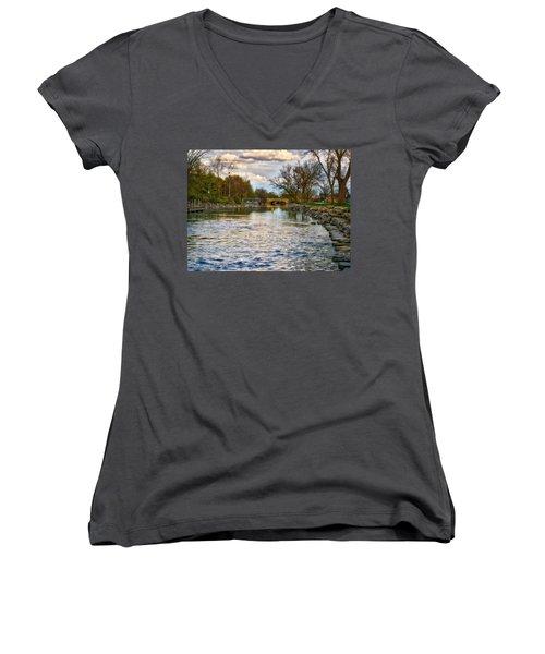 Yahara River, Madison, Wi Women's V-Neck