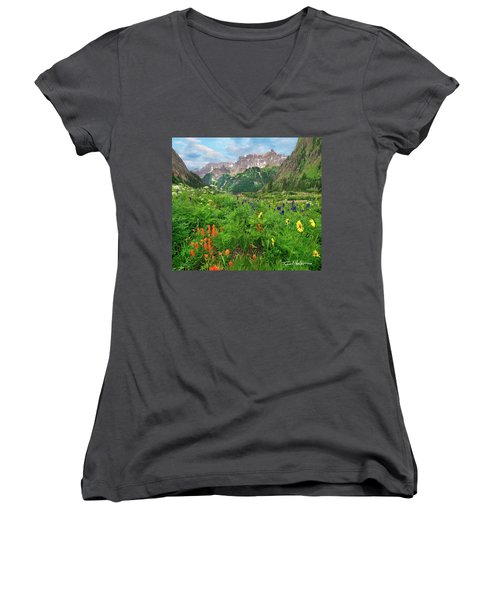 Yankee Boy Basin Women's V-Neck T-Shirt