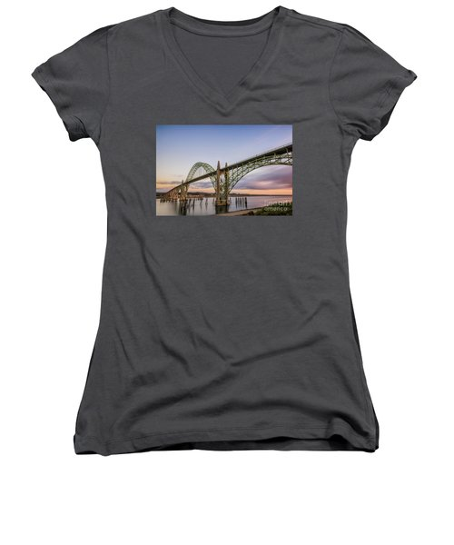 Yaquina Bay Bridge Women's V-Neck