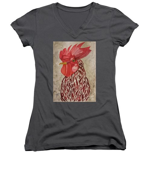 Year Of The Rooster 2017 Women's V-Neck T-Shirt