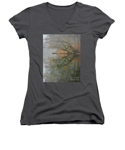 Yearming Women's V-Neck T-Shirt (Junior Cut) by Tom Cameron
