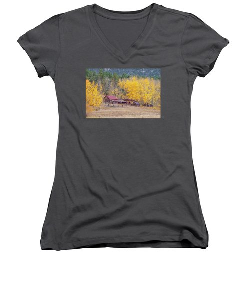 Yearning For The Tranquility Of A Rustic Milieu  Women's V-Neck (Athletic Fit)