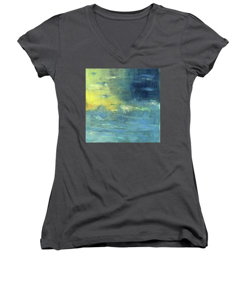 Yearning Tides Women's V-Neck T-Shirt (Junior Cut) by Michal Mitak Mahgerefteh