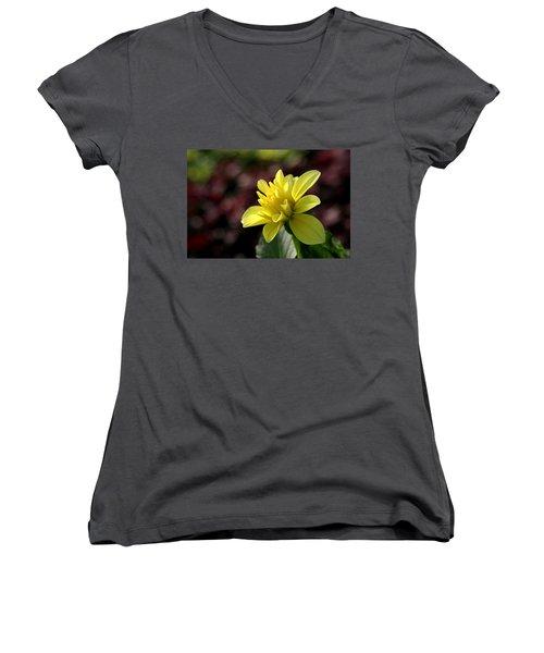 Yellow Bloom Women's V-Neck