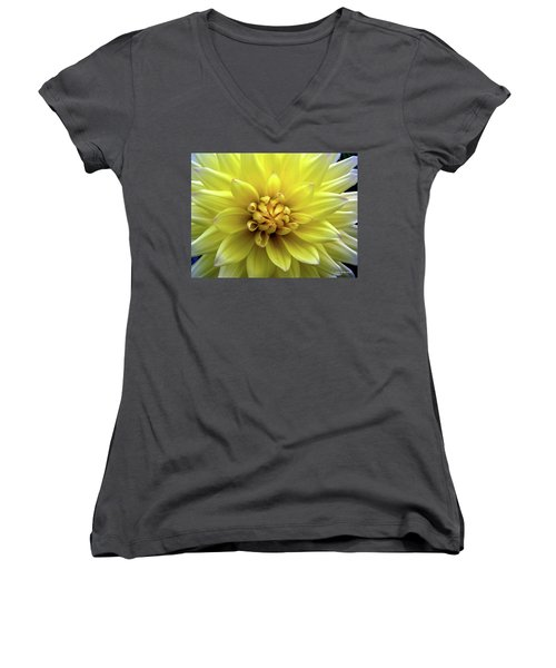 Yellow Dahlia Women's V-Neck (Athletic Fit)