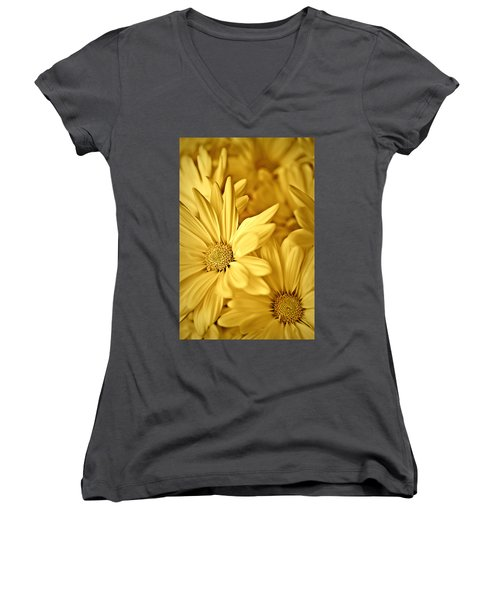 Yellow Daisies Women's V-Neck
