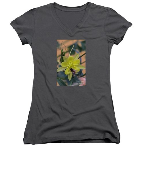 Yellow Flower 5 Women's V-Neck (Athletic Fit)