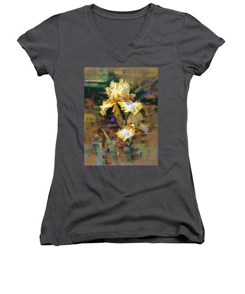 Yellow Iris II Women's V-Neck