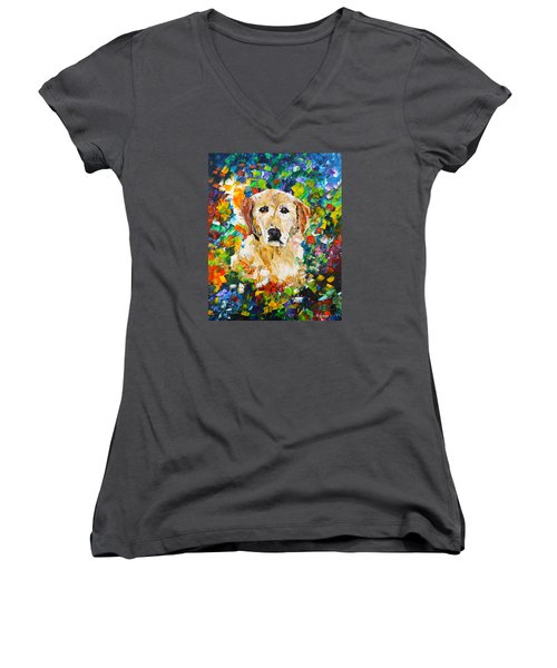 yellow Lab Women's V-Neck