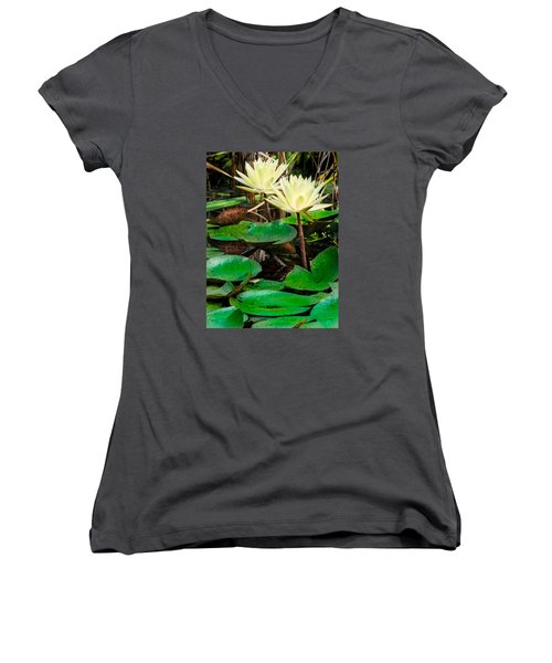 Yellow Lily Women's V-Neck (Athletic Fit)
