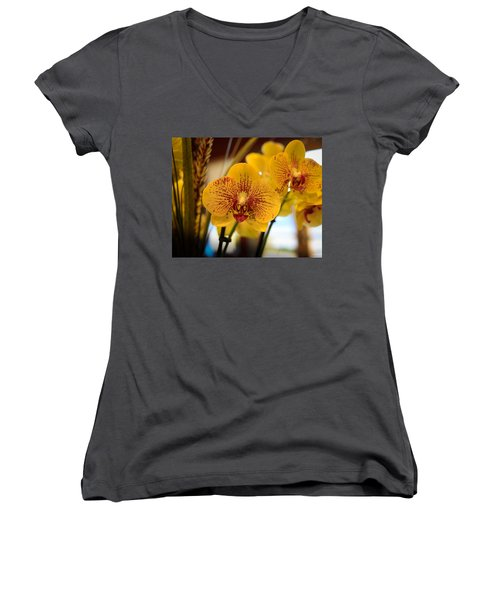 Yellow Orchis Women's V-Neck