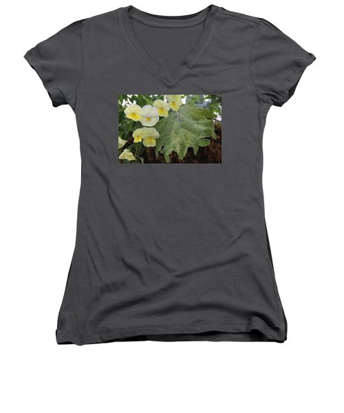 Yellow Pansies Women's V-Neck T-Shirt
