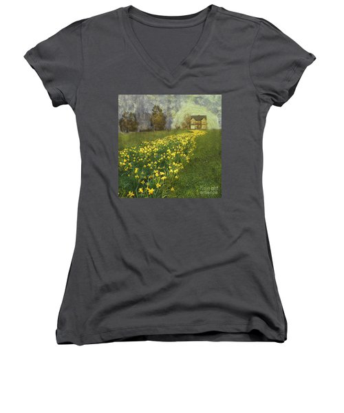 Yellow River To My Door Women's V-Neck T-Shirt