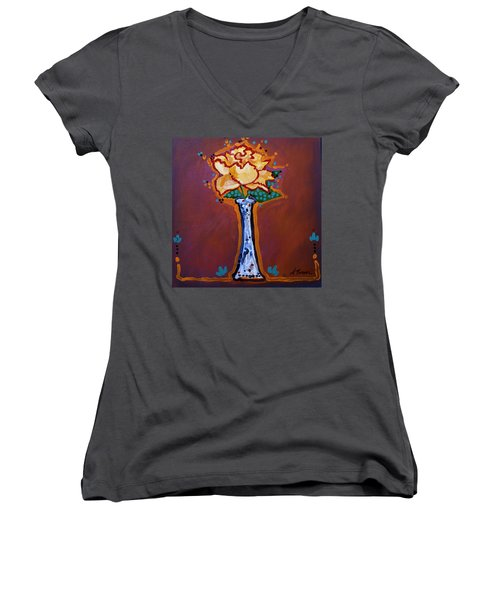 Yellow Rose Women's V-Neck