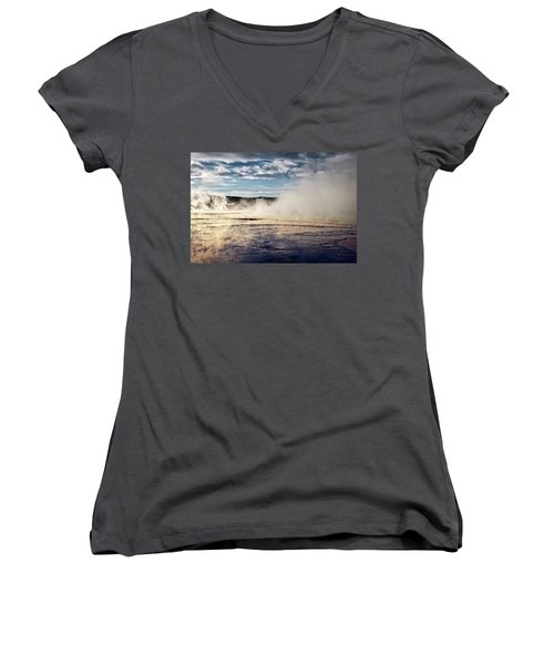 Women's V-Neck featuring the photograph Yellowstone Colors #10 by Scott Read