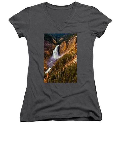 Yellowstone Falls Women's V-Neck T-Shirt