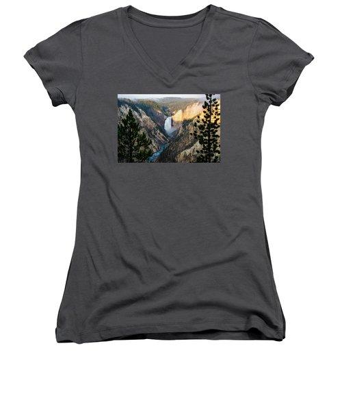 Yellowstone Falls Women's V-Neck