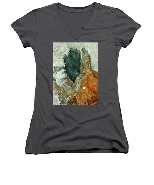 Yellowstone Landscape Women's V-Neck (Athletic Fit)