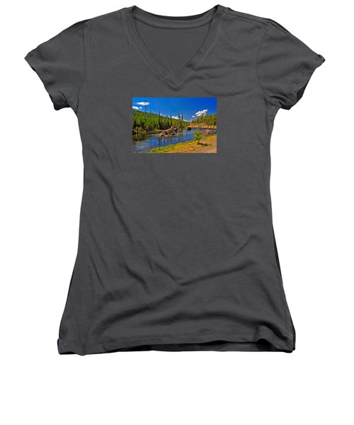Yellowstone River Women's V-Neck (Athletic Fit)