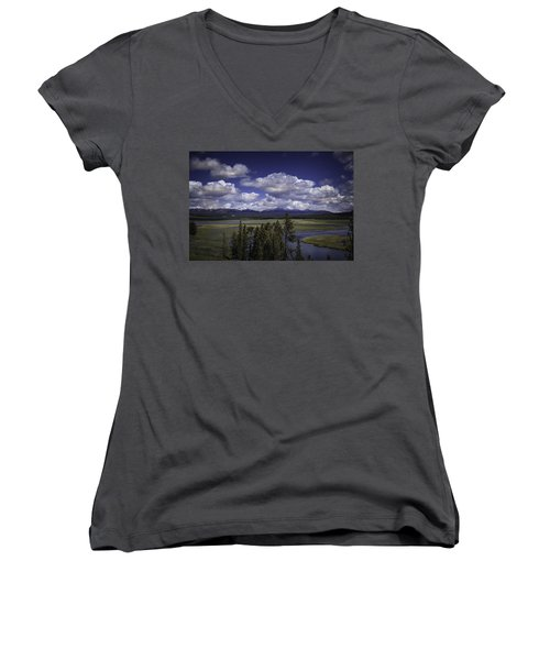 Yellowstone River Women's V-Neck T-Shirt