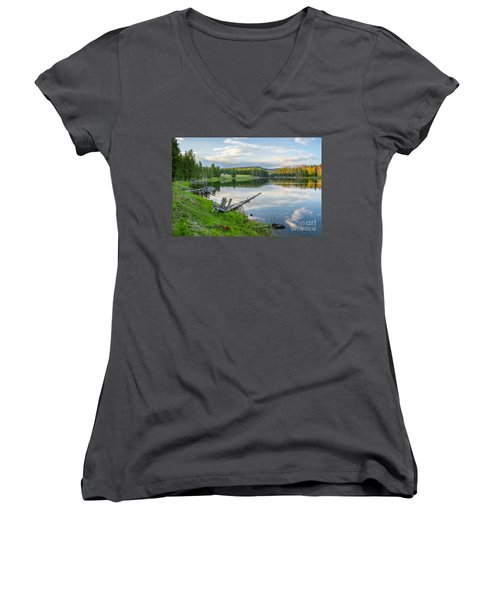 Yellowstone River Off Grand Loop Women's V-Neck (Athletic Fit)