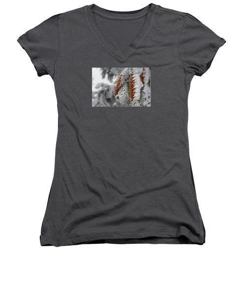 Yep, It's Winter Women's V-Neck T-Shirt (Junior Cut) by Andreas Levi
