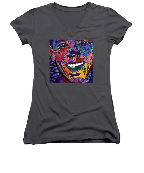 Yes We Can Obama Women's V-Neck